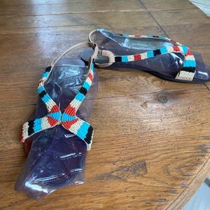 NWT Dolce Vita multi colored beaded flats